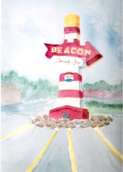 The Beacon Greeting Card featuring the painting The Beacon by Felix Turner