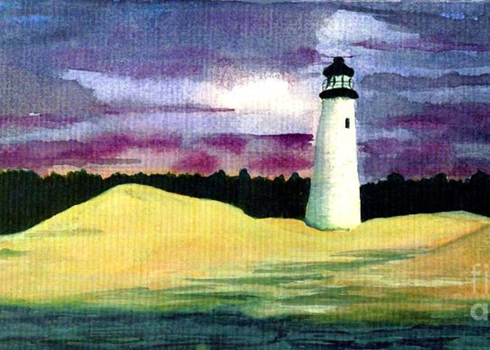 Fine Art Greeting Card featuring the painting The Beacon by Patricia Griffin Brett