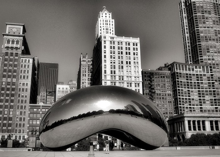 Chicago Architecture Greeting Card featuring the photograph The Bean - 3 by Ely Arsha