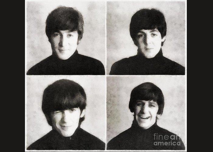 John Paul George And Ringo Greeting Cards