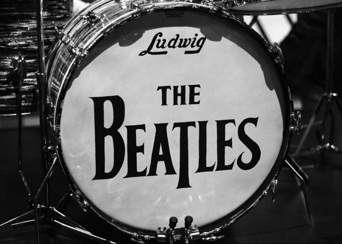 The Beatles Drum Greeting Card featuring the photograph The Beatles Drum by Dan Sproul