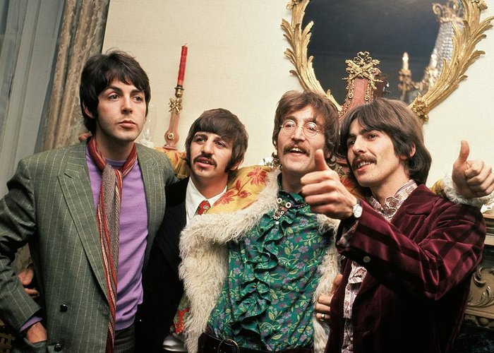 Sgt Peppers Photographs Greeting Cards
