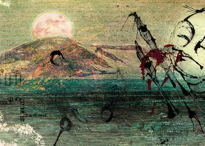 Digital Paintings Greeting Card featuring the painting The Beginning by Mark M Mellon