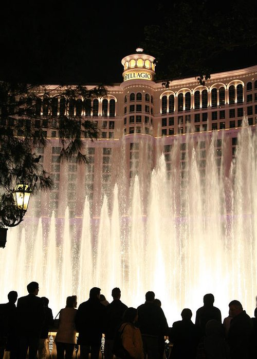 Casino Greeting Card featuring the photograph The Bellagio by Rich Tanguay