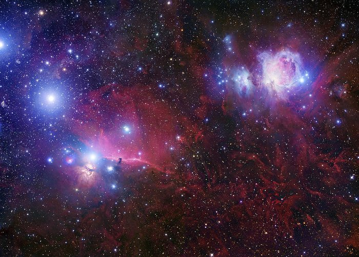 Alnilam Greeting Card featuring the photograph The Belt Stars Of Orion by Robert Gendler