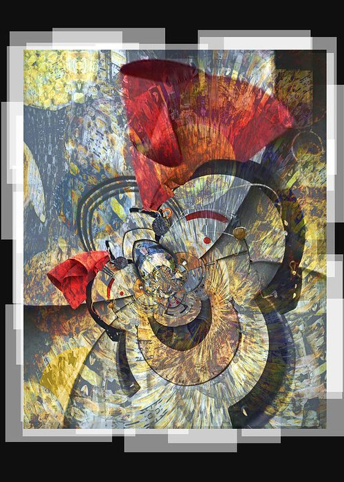 Bang Greeting Card featuring the digital art The Big Bang by Chuck Brittenham