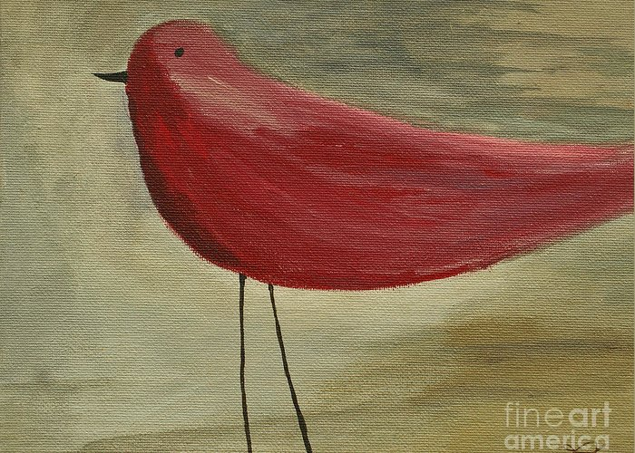 Bird Greeting Card featuring the painting The Bird - Original by Variance Collections