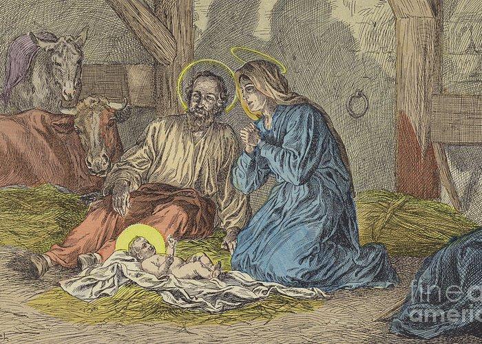 Saint Joseph Drawings Greeting Cards