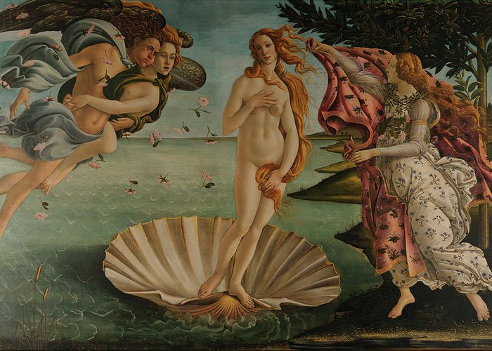 Birth Of Venus Greeting Card featuring the painting The Birth Of Venus, Original by Sandro Botticelli
