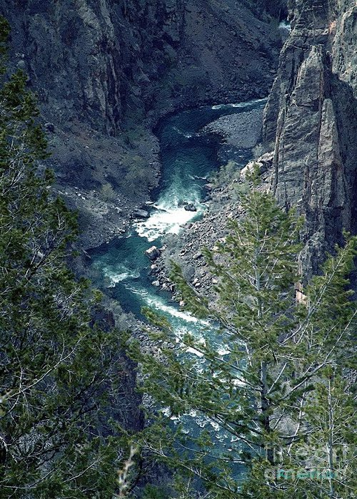 Canyon Greeting Card featuring the painting The Black Canyon Of The Gunnison by RC DeWinter