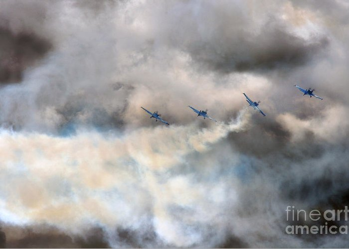 Blades Greeting Card featuring the photograph The Blades Extra 300 by Angel Ciesniarska