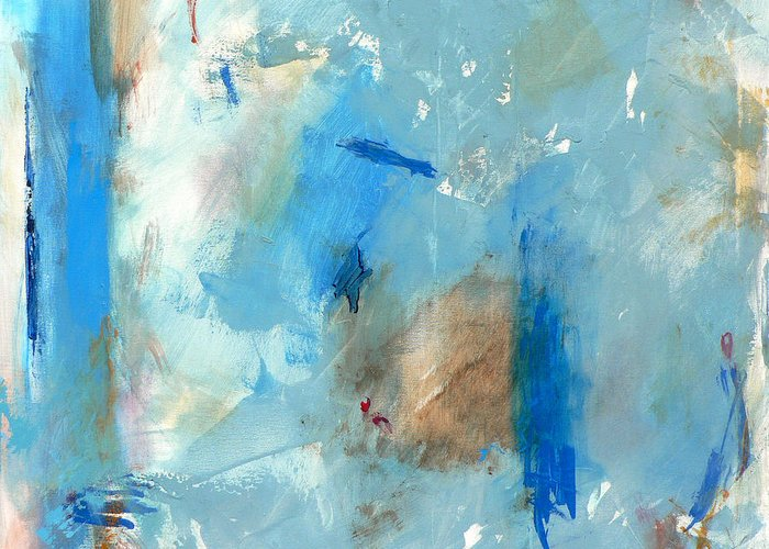 Abstract Greeting Card featuring the painting The Blues by Jacquie Gouveia