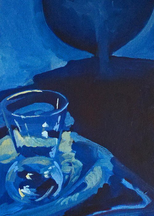 Still Life Greeting Card featuring the painting The Blues by Lauren Luna