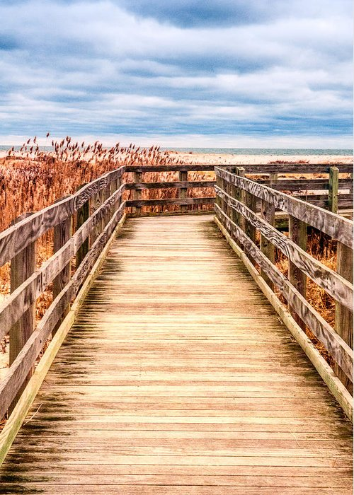 Beach Greeting Card featuring the photograph The Boardwalk by Linda Pulvermacher