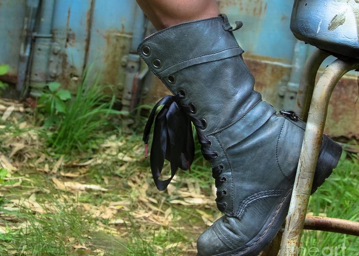Boots Greeting Card featuring the photograph The Boot by Steven Digman