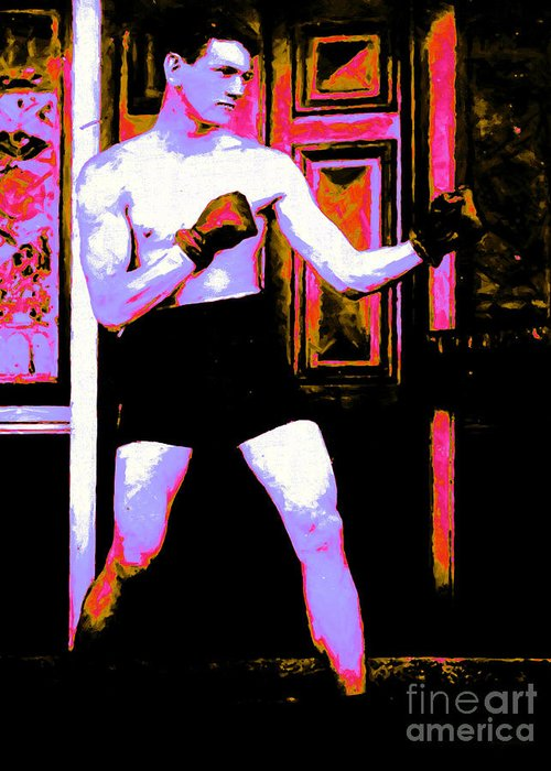 Sport Greeting Card featuring the photograph The Boxer - 20130207 by Wingsdomain Art and Photography