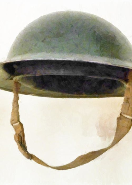 Brodie Greeting Card featuring the photograph The British Brodie Helmet by Steve Taylor