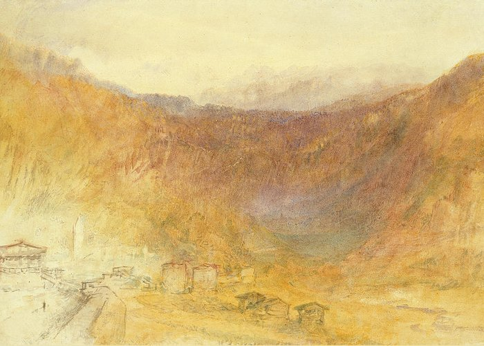 The Greeting Card featuring the painting The Brunig Pass From Meiringen by Joseph Mallord William Turner
