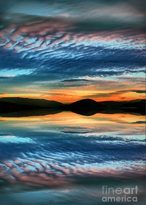 Sunset Greeting Card featuring the photograph The Brush Strokes Of Evening by Tara Turner