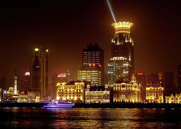 Bund Greeting Card featuring the photograph The Bund - Shanghai's Magnificent Historic Waterfront by Christine Till