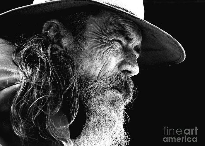 Australian Bushman Hat Greeting Card featuring the photograph The Bushman by Sheila Smart Fine Art Photography