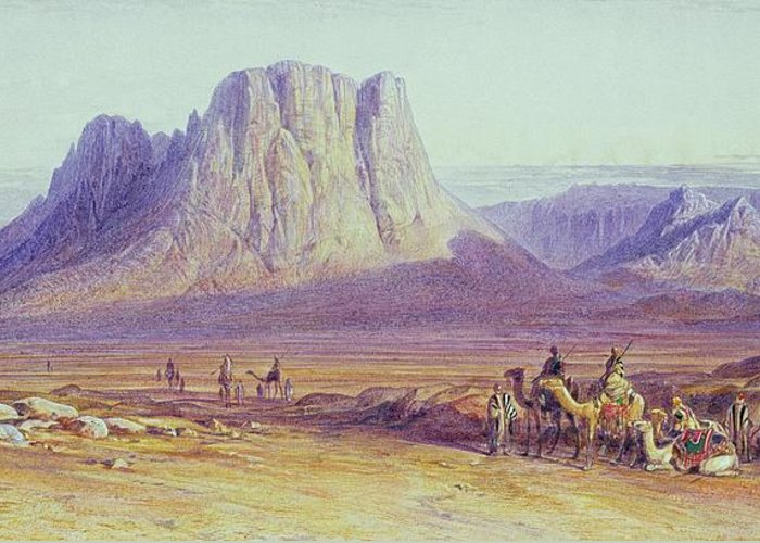 The Greeting Card featuring the painting The Camel Train by Edward Lear
