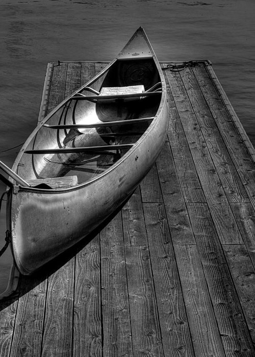 Canoe Greeting Card featuring the photograph The Canoe by David Patterson