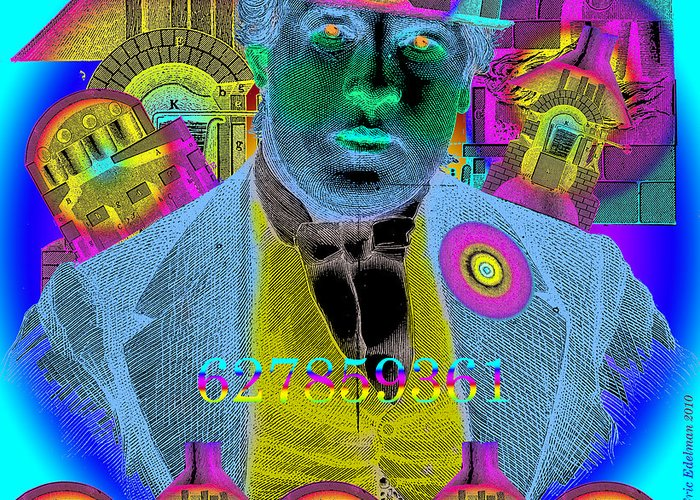 Capitalist Greeting Card featuring the digital art The Capitalist by Eric Edelman