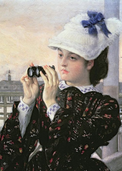 The Greeting Card featuring the painting The Captain's Daughter by Tissot