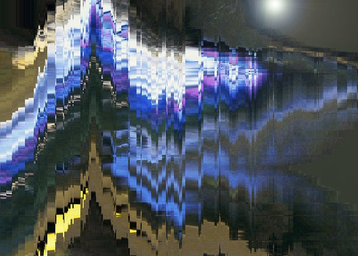 Abstract Greeting Card featuring the digital art The Cathedral by Lenore Senior