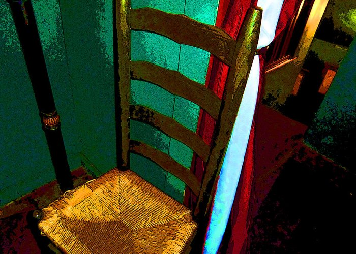 Chair Greeting Card featuring the photograph The Chair by Mindy Newman