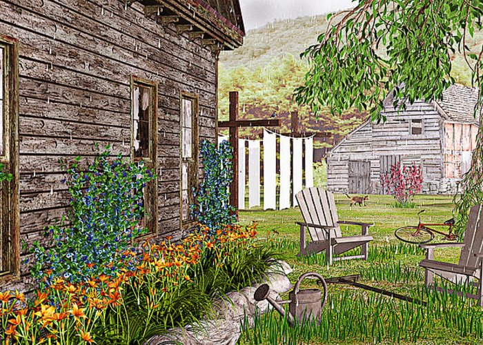 Adirondack Chair Greeting Card featuring the photograph The Chicken Coop by Peter J Sucy