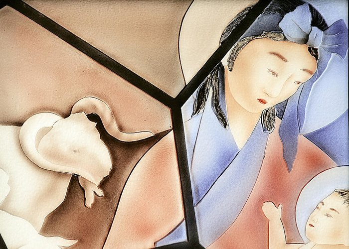 Family Greeting Card featuring the photograph The Chinese Jesus by Christine Till