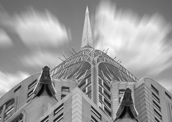 Landmarks Greeting Card featuring the photograph The Chrysler Building 2 by Mike McGlothlen