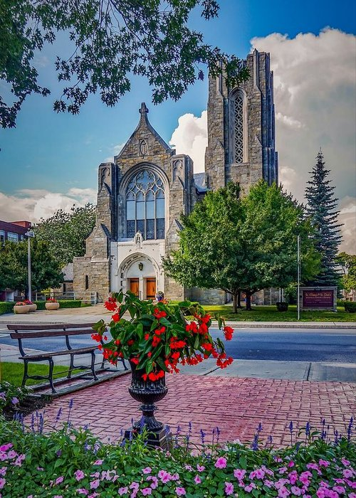 Greeting Card featuring the photograph The church in summer by Kendall McKernon