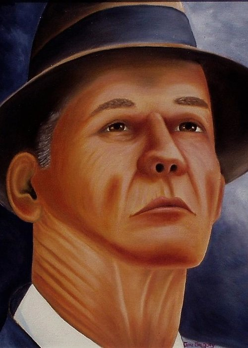 Portrait Greeting Card featuring the painting The Coach by Gene Gregory