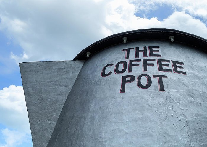 The Coffee Pot Greeting Card featuring the photograph The Coffee Pot Up Close by Marianne Campolongo