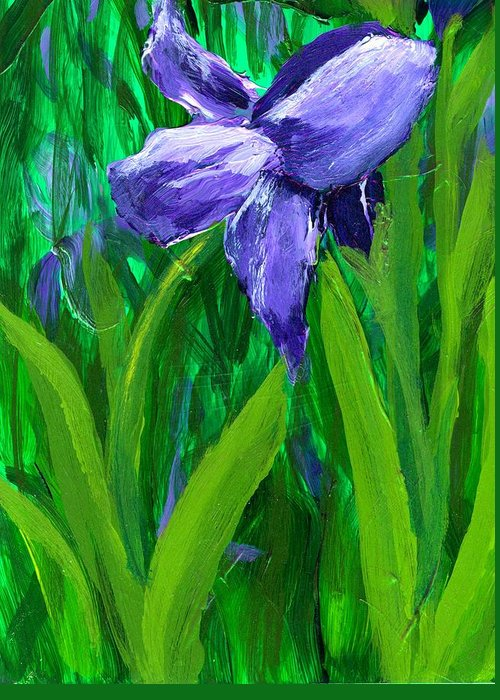 Purple Greeting Card featuring the painting The Color Of Royalty by Wanda Pepin