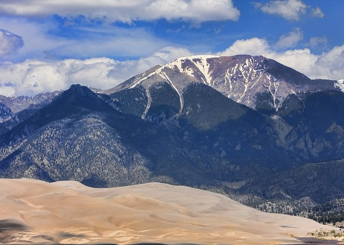 the Great Colorado Sand Dunes Greeting Card featuring the photograph The Colorado Great Sand Dunes 125 by James BO Insogna