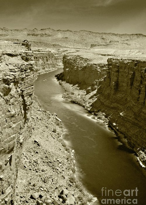 Colorado Greeting Card featuring the photograph The Colorado River by Pete Hellmann