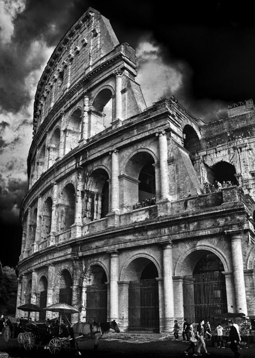 Colosseum Greeting Card featuring the photograph The Colosseum Rome by Darren Burroughs