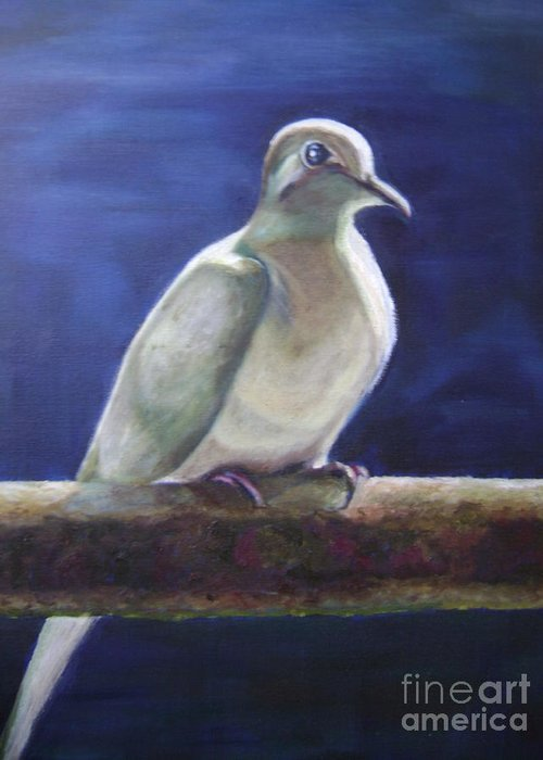 Dove Greeting Card featuring the painting The Companion by Asha Porayath