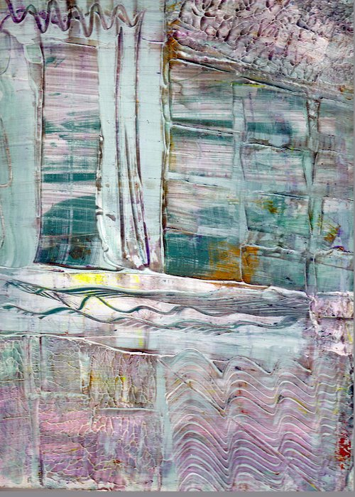 Abstract Greeting Card featuring the painting The Corner Window by Wayne Potrafka