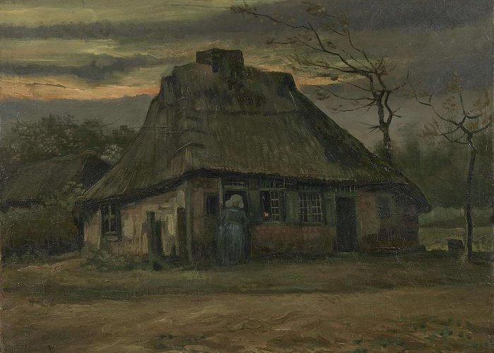 Art Greeting Card featuring the painting The Cottage Nuenen, May 1885 Vincent Van Gogh 1853 1890 by Artistic Panda