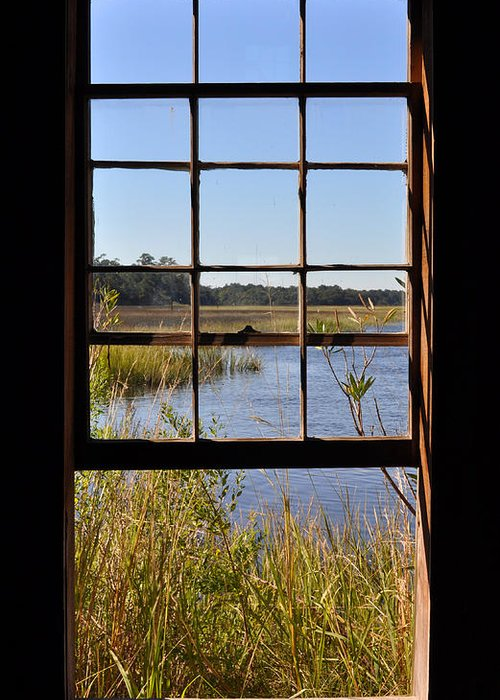the Cotton Dock Greeting Card featuring the photograph The Cotton Dock by Melissa Wyatt