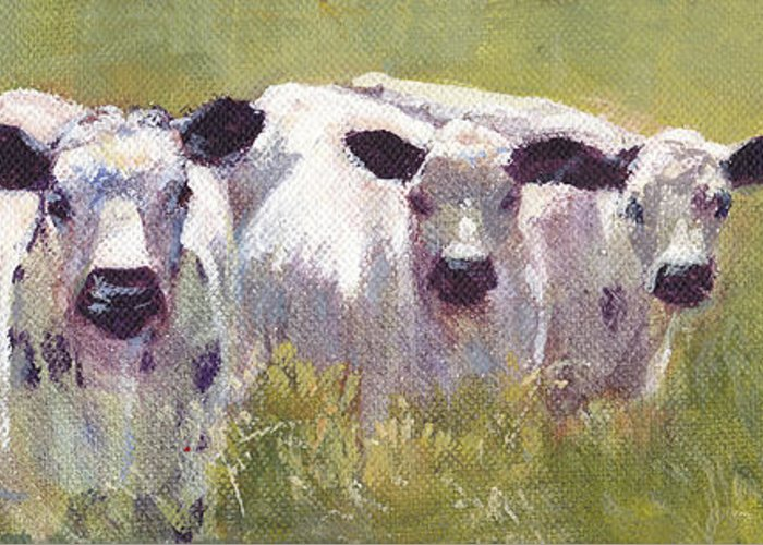 Three Cows Greeting Cards