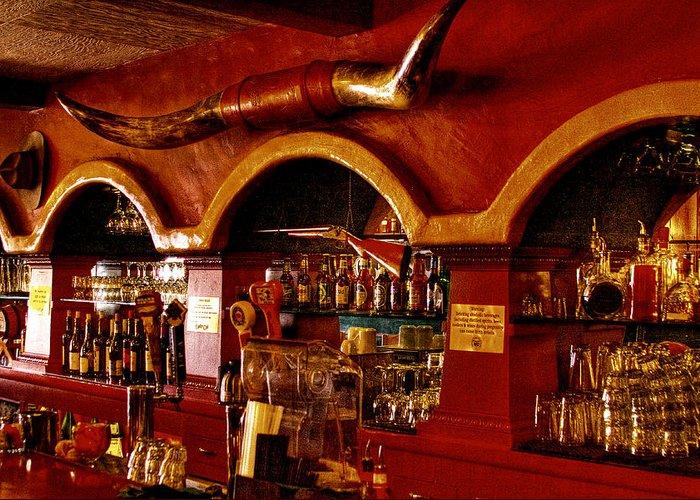 Cowboy Club Greeting Card featuring the photograph The Cowboy Club Bar In Sedona Arizona by David Patterson