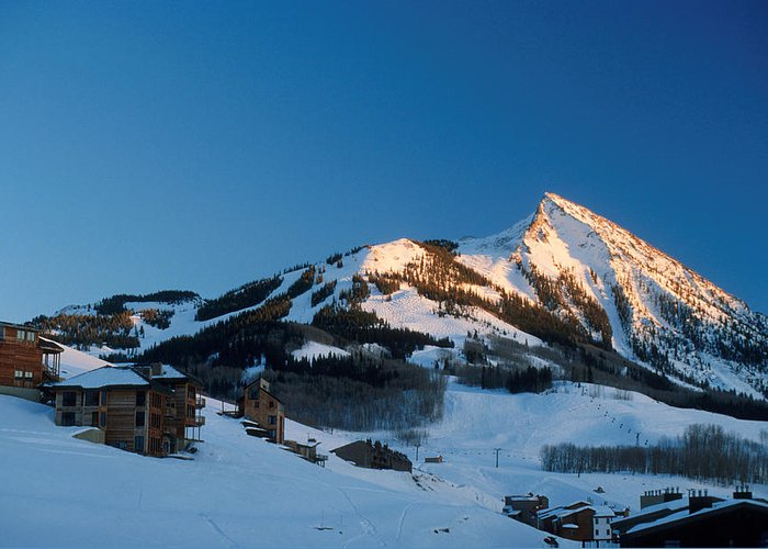 Crested Butte Greeting Card featuring the photograph The Crested Butte by Jerry McElroy