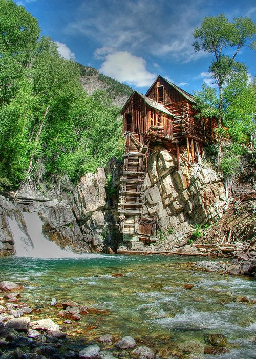 Crystal Mill Greeting Card featuring the photograph The Crystal Mill In Crystal Colorado by Ken Smith