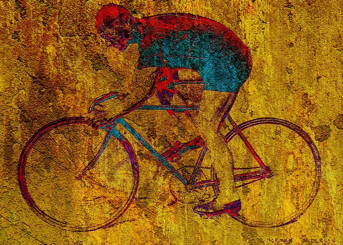 Bicycle Greeting Card featuring the photograph The Cyclist by Andrew Fare